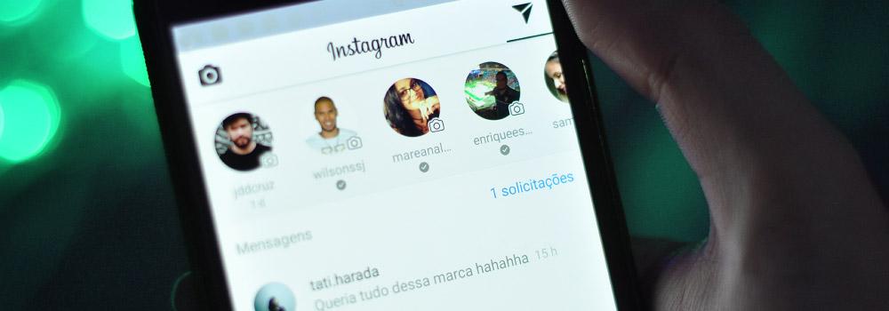 Solicitação de mensagens filtradas no Instagram