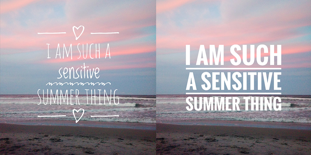 Snapseed: I am such a sensitive summer thing, Nayyirah Waheed.